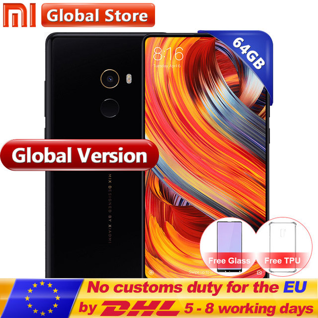 "Versión Global mi X 2 mi X2 6 GB 64 GB smartphone Teléfono Snapdragon 835 Octa Core 5,99 ""pantalla completa Cera mi cs"