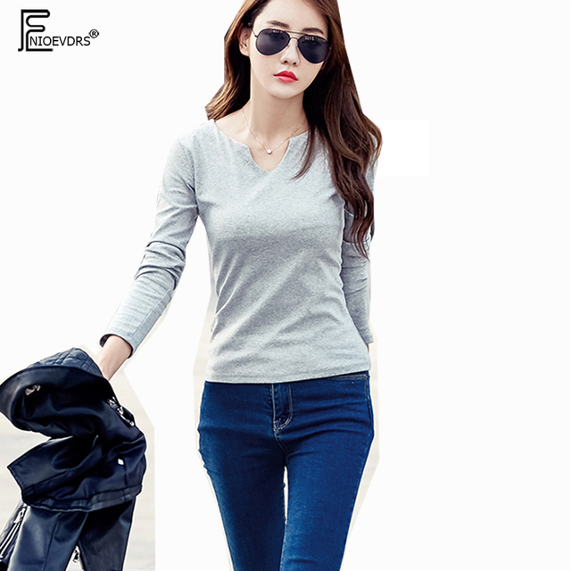 9d5de955a4ce V Neck Tops New Hot Selling Korean Style Women Autumn Winter Basic ...