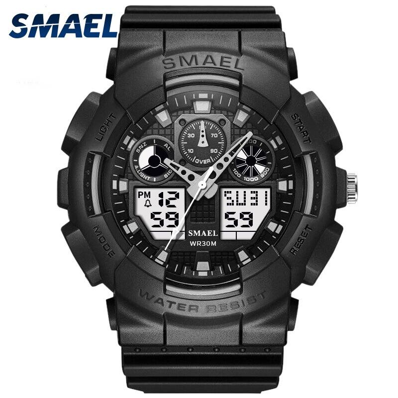 SMAEL marque Montre hommes Sport LED numérique mâle Montre-bracelet hommes top marque luxe Relogios Masculino Montre Homme WS1027