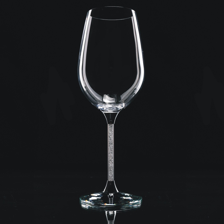 new arrival customed 2 pieces 515ml 18 oz lead free crystal wedding goblet of 2 with