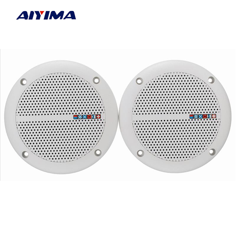 Us 24 44 26 Off Aiyima 2pcs Audio Ceiling Speakers Waterproof Radio Speaker Passive Sound Weah 400 4 Ohm 25w Speaker Diy For Home Theater In