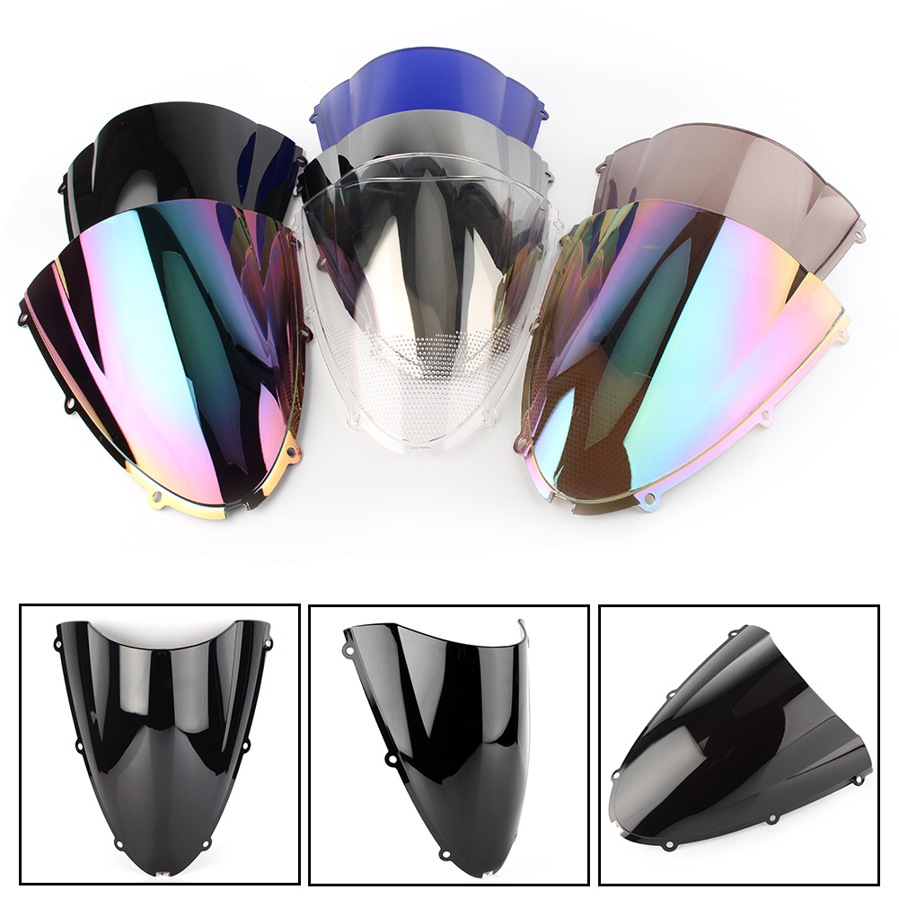 Motorcycle Windshield Windscreen Double Bubble For Kawasaki Ninja ZX6R 2005 2006 2007 2008 & ZX636 2005-2006
