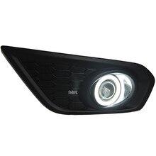Eosuns инновационные УДАРА Ангел глаз светодиодные дневного света DRL + Галогенные Противотуманные фары + объектив проектора для Volvo C30