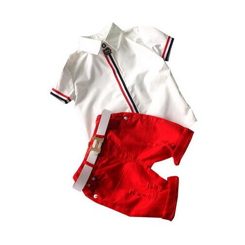Sunshine Baby Boy Clothing Sets (Shirt + Shorts) 2017 Summer Children's Clothes for Boys Fashion Boy Sports Clothing Suit DTZ553