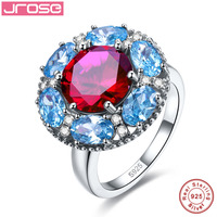 Jrose Retail Wholesale Wedding Round Rose Red Blue White Blue Solid Real Pure 100 925 Sterling