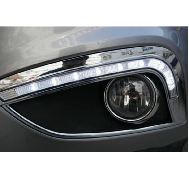 NEW LED Light For Hyundai IX35 IX 35 2010 2011 2012 2013 LED DRL Daytime Running Light Waterproof With Wire Of Harness 2pcs new car styling led daytime running light drl waterproof for hyundai accent 2012 2013