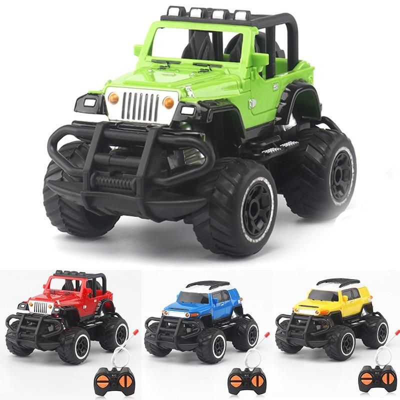 Grande voiture télécommandée pour enfants Jeep tout-terrain escalade camion garçon jouet électrique quatre roues motrices modèle racing