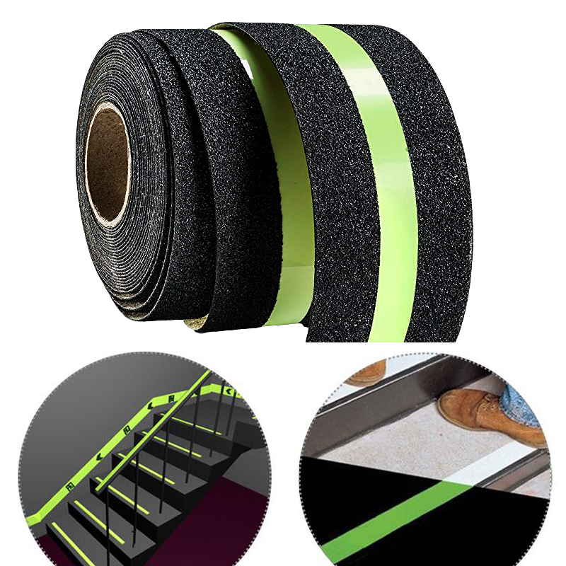 Adhesive Anti Slip Luminous Tape glow in the dark tape Semi-luminous anti-slip frosted