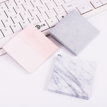 1PC Creative Marble Color Self Adhesive Memo Pad Stone Style Sticky Notes Bookmark School Office Stationery Supply 1