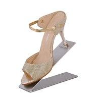 Envío libre superficie de espejo de metal estante de exhibición del zapato del soporte vertical holer modelo ST587