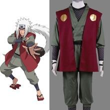 Anime font b Naruto b font Jiraiya font b Cosplay b font Costume Whole Set Custome