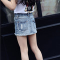 Baby Toddler Girls Short Jeans Skirts European Designer Brand Children Cute Casual Denim Clothes Organic Cotton Retail 3T-9Years