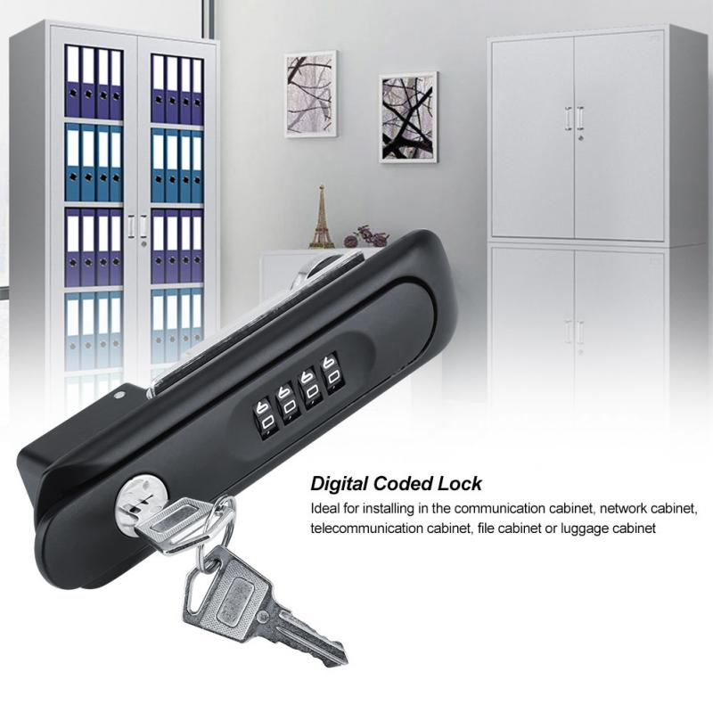 Smart Digital Password Lock Zinc Alloy Code Cabinet Lock Combination Cam Cabinet Password Lock with Keys cerradura inteligente
