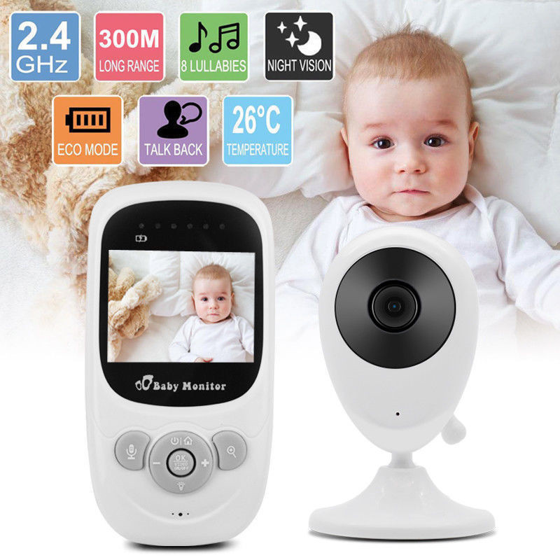 2.4 Inch Wireless Baby Monitor Digital Video Baby Monitor SP880 High Resolution Baby Security Camera Night Vision Monitoring