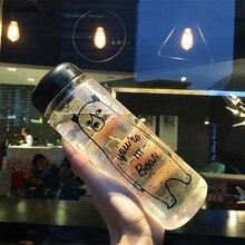 500 مللي/350 مللي الصيف الرياضة الدراجات التخييم بسهولة الفضاء الصحة كوب بلاستيك لحفظ عصير الليمون الحليب زجاجة ماء
