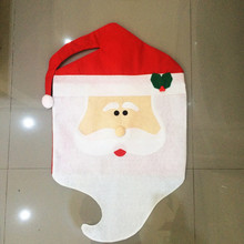 Mr Mrs Santa Claus Chair Cap Hood Red Hat Home Party Dinner