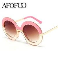AFOOF 2016 Fashion Women Round Sunglasses Vintage Retro Classic Arrows Sunglass Luxury Brand Design Circle Sun