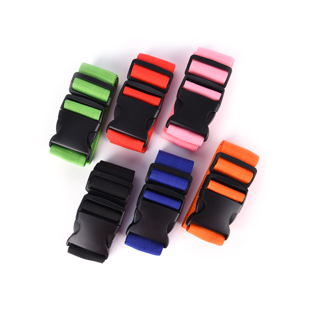 Adjustable Nylon Travel Luggage Suitcase Strap Luggage Cross Packing Belt Baggage Suitcase Protective Straps Travel Accessories