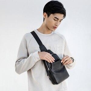 Image 2 - Xiaomi Borst Rugzak Mi Lederen Tas Mode Draagbare Toevallige 190*80*320Mm Mannen Suède Reizen schoudertassen Voor Mannen