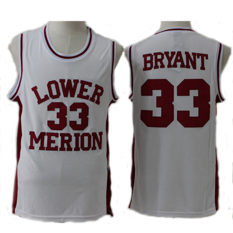 5fdd05467 Throwback Kobe Bryant 33  Basketball Jerseys High School Lower Merion Red  And White Retro Good Quality Stitched Shirts For Man-in Basketball Jerseys  from ...