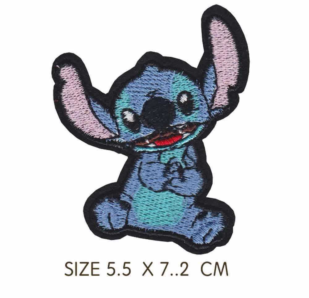 Синий мультфильм животных с длинными ушками клеящиеся утюгом украшения ткань заплатка для одежды для девочек мальчиков оптовая продажа