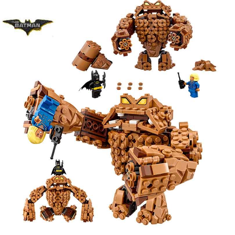2017 New LEPIN 07050 Batman Movie The Rock Monster Clayface Splat Attack Building Block Toys Compatible with Legoe Batman 70904