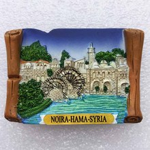 Middle East monuments Syria Hama waterwheel travel collection three - dimensional scenery refrigerator