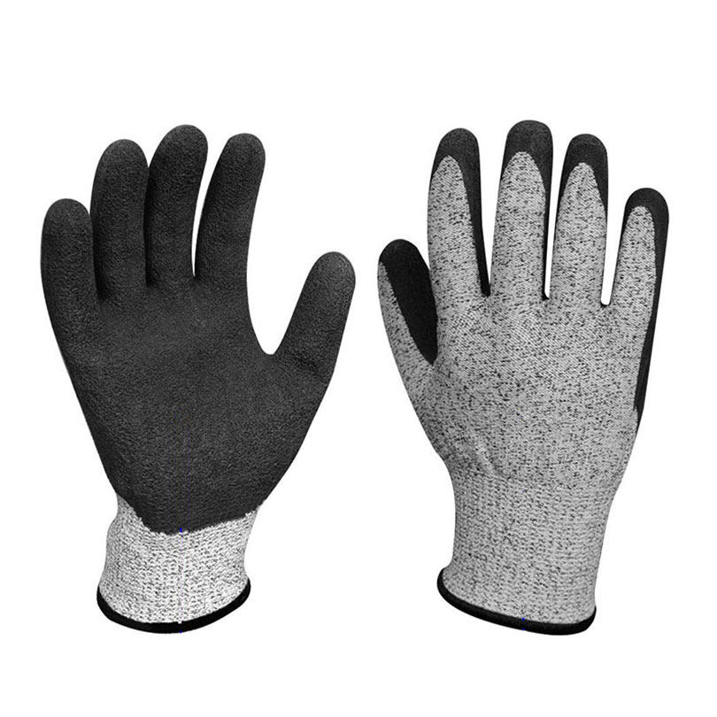 Work Gloves Anti-cut Nitrile Safety Gloves Security Protective Garden Wear-resistant Slip Slaughter Workplace Safety Supplies high quality cut proof labor gloves breathable protective gloves 1 pair wear resistant anti slip nitrile coating knitted gloves