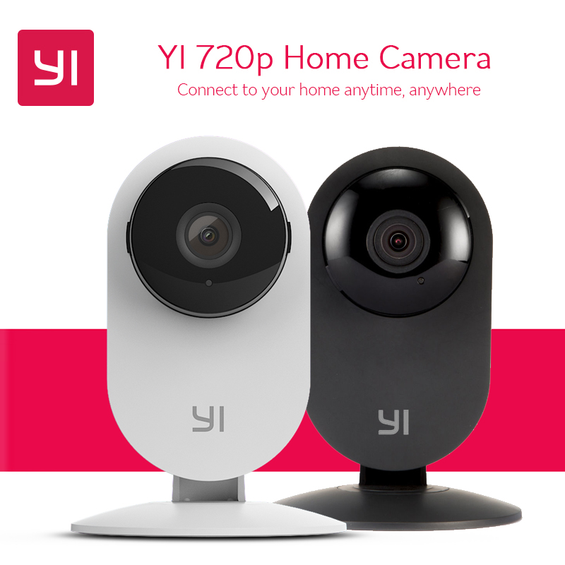 2pcs YI 720P Home Camera HD Video Monitor IP Wireless Network Surveillance Security Camera Night Vision Motion Detection CCTV