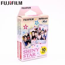 Original Fujifilm 10 sheets Instax Mini SHINY STAR Instant Film photo paper for Instax Mini 8 7s 25 50s 90 9 SP-1 SP-2 Camera