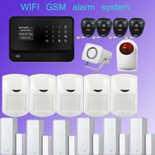 New Product 2.4G WiFi Alarm System Security Home GSM Alarm System Burglar Security Fire Door Close Reminder+outdoor siren