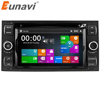 Eunavi 7'' 2 Din Car DVD Player For Ford Focus Galaxy Fiesta S Max C Max Fusion Transit Kuga in dash GPS Navi Radio Stereo RDS