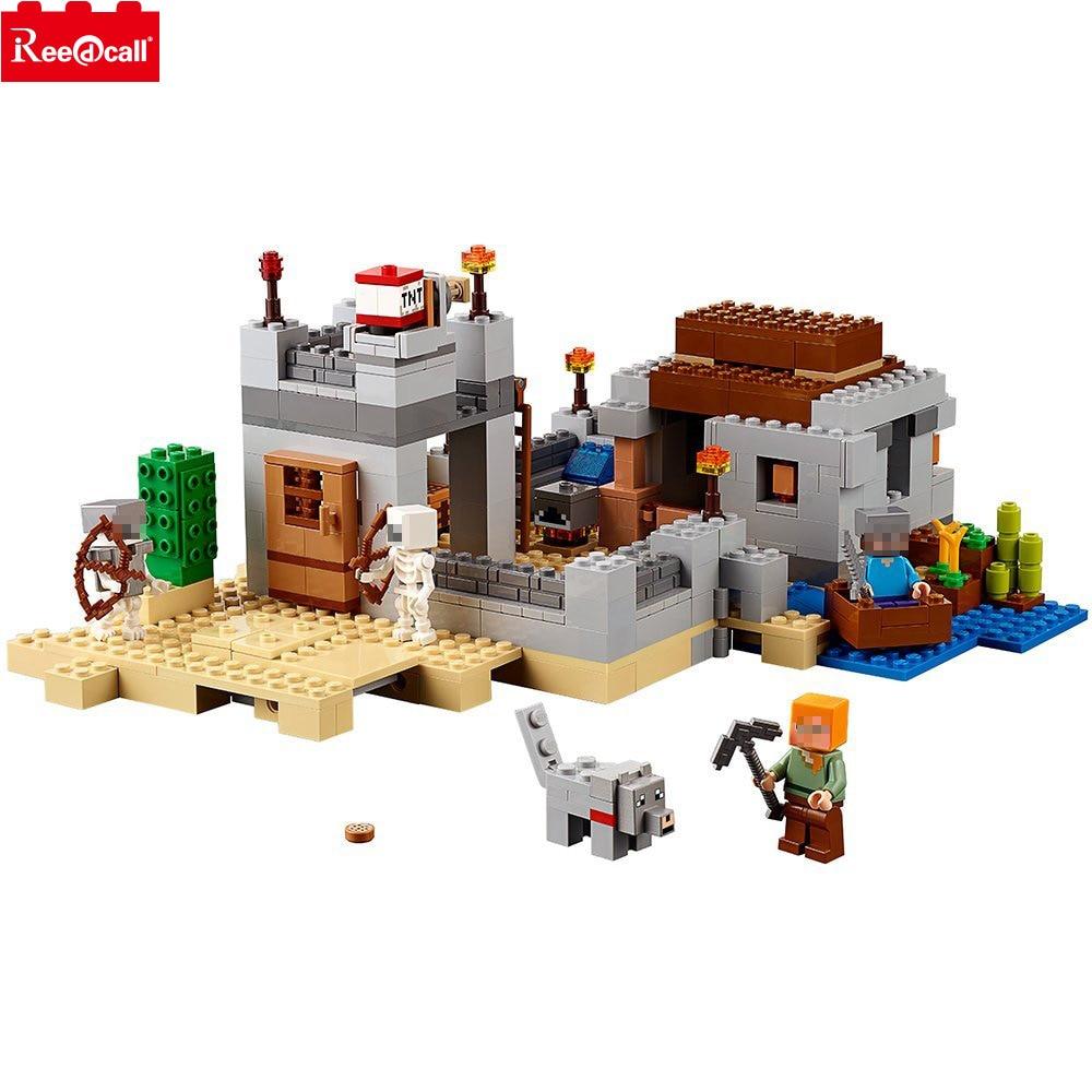 10392 Minecrafted le désert avant-poste Kit de construction Compatible 21121 Legoings Minecrafter bloc Set jouet de construction créatif 519 pièces