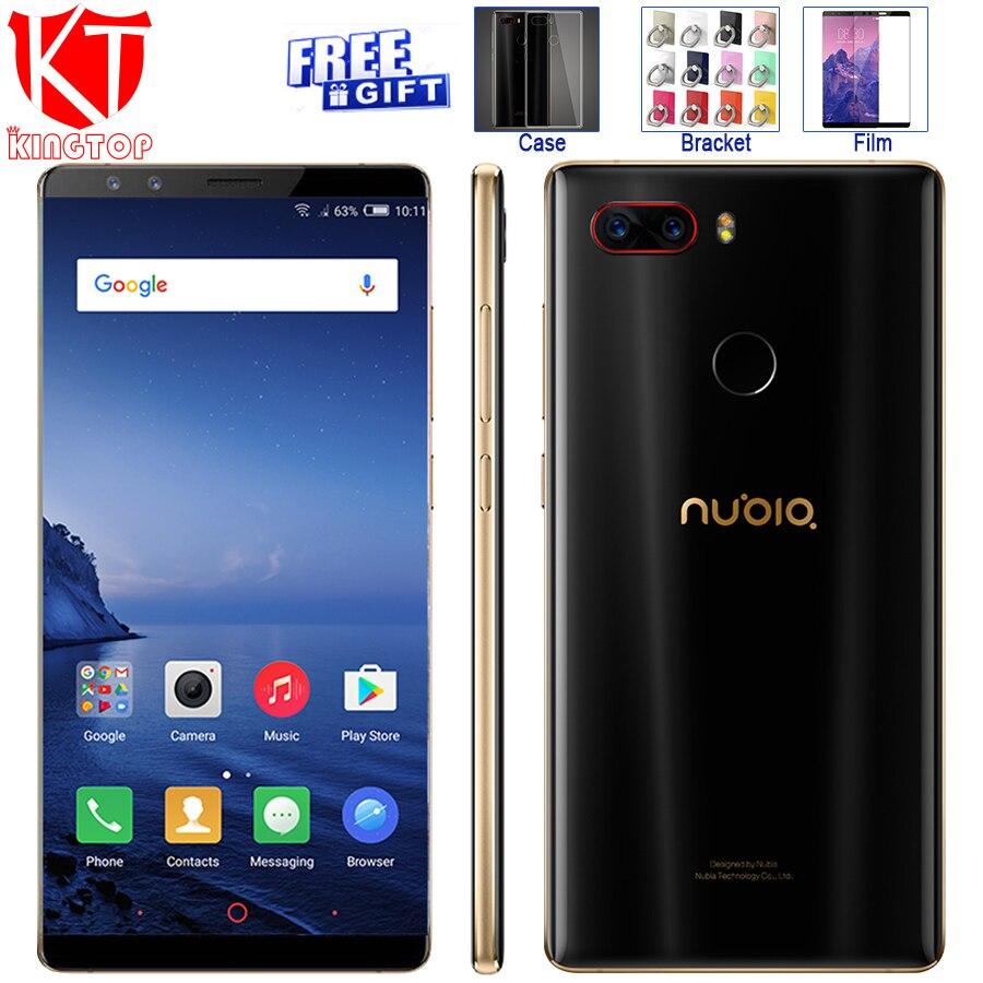 Оригинальный zte Нубия Z17S полный Экран мобильный телефон Snapdragon 835 6 ГБ Оперативная память 64 ГБ Встроенная память 5,73 дюймов Android 7,1 двойной спер...