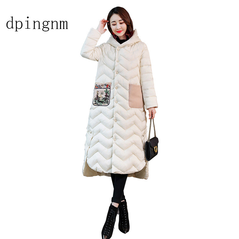 2018 Coat Jacket Women's Hooded Warm   Parkas   Bio Fluff   Parka   Coat Hight Quality Female New Winter Collection Hot
