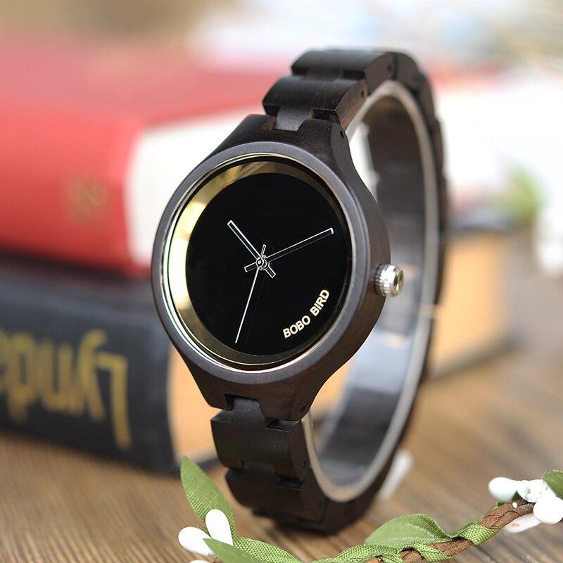 BOBO BIRD New Wood Watch Women Quart Movement Lady Wristwatch Relogio Feminino B-P16 Drop Shipping