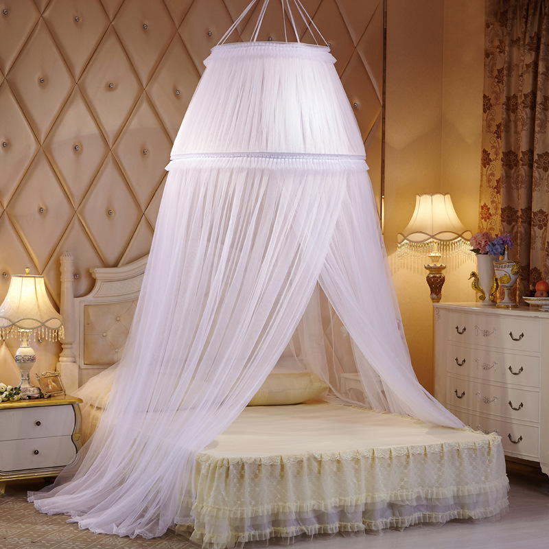 Luxury palace princess Black mosquito net bed mantle bed curtain bed ...