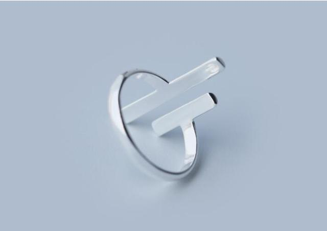 925 Silver Ring Fashion Special Jewelry Novel Double Bar Women Party Rings Wedding Gifts