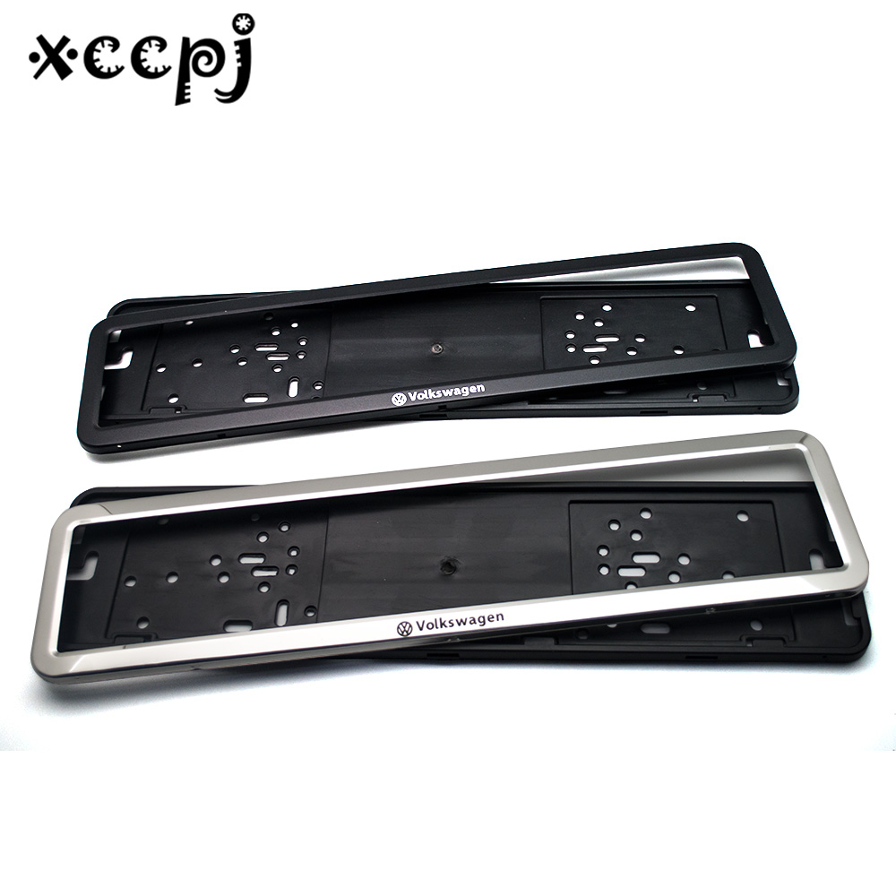 1 Pcs Stainless Steel European Universla Car License Plate Frame Number Plate Holder Front And Rear Eu Plate For Volkswagen