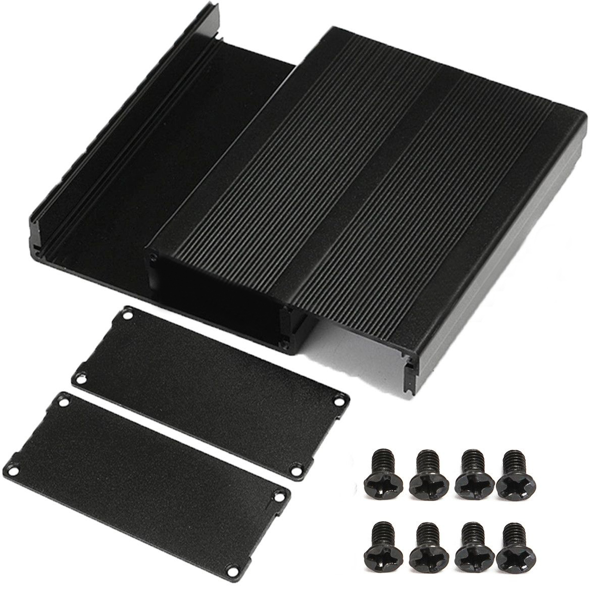 Split Body Aluminum Box Enclosure Instrument Case Panels Screws DIY Built-in Grooves Mayitr Electronic Project Cases 120*97*40mm набор для вышивания с бисером riolis богоматерь казанская