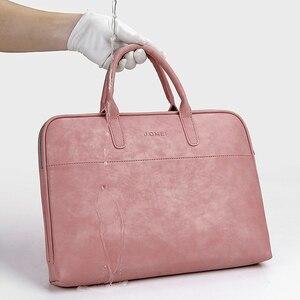 Image 3 - Moda damska skórzana torba na laptopa dla Toshiba Samsung Sony 15.6 13.3 14.1 calowa torba na komputer damska torba z Power Bag