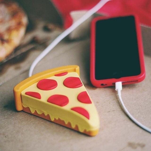 imágenes para 2600 mah banco de la energía de pizza emoji cargos usb teléfono powerbank para iphone7 pizza 7 plus samsung s7 s6edge