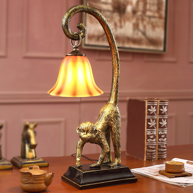 Aliexpress.com : Buy Monkey Figurine American Country Resin Monkey Table  Lamp Hotel Living Room Bedroom Decorative Lighting Desk Lamp Table Lamp  From ... Part 91