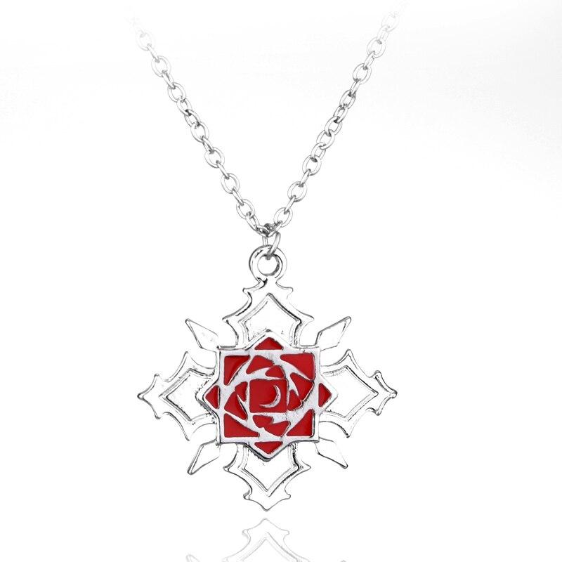 Anime Vampire Knight Rose Logo Metal Necklace Yuki Kaname
