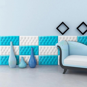 Papel tapiz 3D imitación de cuero PE autoadhesivo estilo Tatami grueso impermeable niño anticolisión Alfombra de pared para niños guardería