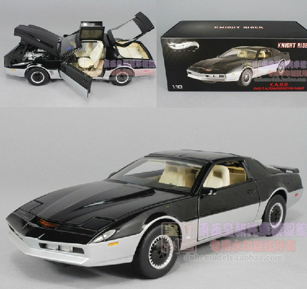 Hot Wheels Elite 1:18 KITT KNIGHT RIDER KARR Metal Diecast Cars Collection Kids Toys Vehicle For Children Juguetes maisto jeep wrangler rubicon fire engine 1 18 scale alloy model metal diecast car toys high quality collection kids toys gift