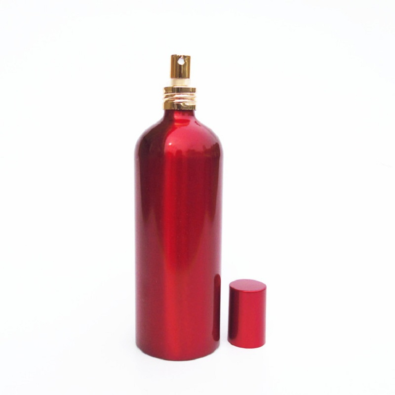 150ml Red Aluminum <font><b>Spray</b></font> <font><b>Bottle</b></font> Refillable Lotion Pump <font><b>Bottle</b></font> Atomizer Toner Watering Pot <font><b>200ml</b></font> Empty Cosmetic Containers <font><b>Bottle</b></font> image