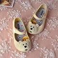 MINI MELISSA Cute Girls Sandals Bear Head Melissa Shoes Sandalen Mini Girls Sandals 5 Color Kids Sandals Non-Slip Wear-Resistant