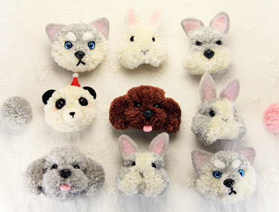 The World Of Animals Pompom Felt Kit With Keychain Woolen