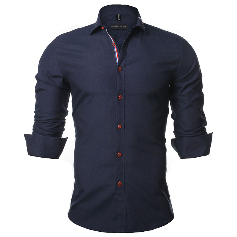 VISADA JAUNA 2017 Novi Muška Majica Jednobojni Dugih rukava Casual - Muška odjeća - Foto 6